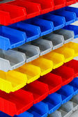 Colourful shelf — Stock Photo
