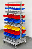 Workshop color trolley — Stock Photo