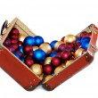 Royalty-Free Stock Photo: Christmas decorations in the old bag
