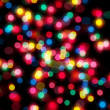 Christmas lights out of focus — Stock fotografie
