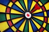 Arrow on the target — Stock Photo