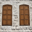 Stock Photo: Two Closed Windows