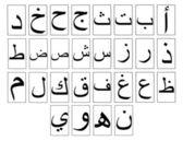 Arabic Alphabet Horizontal — Stock Photo