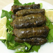 Stock Photo: Stuffed Vine Leaves Platter