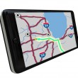 Navigation GPS Software on Smart Phone — Stock Photo #4434374