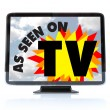Royalty-Free Stock Photo: As Seen on TV - High Definition Television HDTV