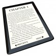 E-Book Reader with Novel on Screen - Stock Photo