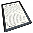 E-Book Reader with Novel on Screen — Stockfoto