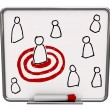 Targeted Person - Dry Erase Board with Red Marker — Stockfoto