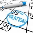 Calendar - Vacation Day Circled - Stock Photo