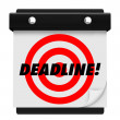 Stock Photo: Deadline - Hanging Wall Calendar