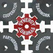Stock Photo: Synergy Gears - Teamwork in Action