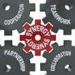 Synergy Gears - Teamwork in Action — Stock Photo