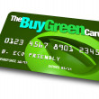 Credit Card - Buy Green - Stock Photo