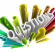 Question Marks - Colorful 3D Symbols - Foto Stock
