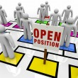 Stock Photo: Open Position in Organizational Chart
