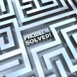 Stock Photo: Maze - Problem Solved