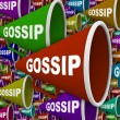 Gossip - Word on Many Bullhorns — Stock Photo