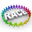 Race - Runners Around World - Stock Photo
