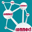 Connect - Linked Spheres in Network — Stock Photo