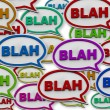 Blah - Speech Bubble Background - Stok fotoğraf