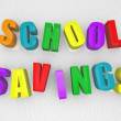 School Savings - Refrigerator Magnets — Stock Photo