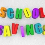 épargne scolaire - aimants pour réfrigérateur — Photo