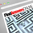 Find Answers Online - Web Screen - Foto Stock