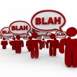 Crowd of Talking - Blah — Stock Photo