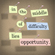 In the Middle of Difficulty Lies Opportunity — Stock Photo