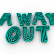 A Way Out - Maze Words - Stock Photo