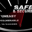 Safe and Secure - Speedometer - Stock Photo