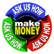 Make Money - Ask Us How - Stock Photo