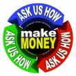 Make Money - Ask Us How — Stock Photo
