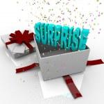 Surprise Present - Happy Birthday Gift Box — Stock Photo #4439876