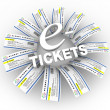 Royalty-Free Stock Photo: E-Tickets Word Ring