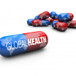 Stock Photo: Global Health Care - Capsule Pills
