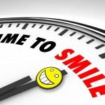 tempo de sorrir - relógio — Foto Stock