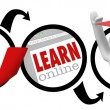 Going Online to Learn - Education - Stock Photo
