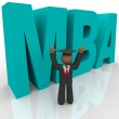 Mba - Letters and Business Man — Stock Photo #4439923