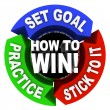 Stock Photo: How to Win - 3 Arrows of Advice