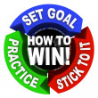 How to Win - 3 Arrows of Advice - Stock Photo