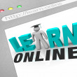 Learn Online - Web Screen - Stock Photo