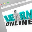 Learn Online - Web Screen — Stok Fotoğraf #4439960