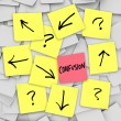 Confusion - Sticky Notes — Stockfoto