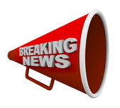 Breaking News - Words on Bullhorn — Stock Photo