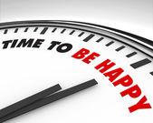 Czas, aby być szczęśliwym - zegar — Zdjęcie stockowe
