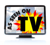 As Seen on TV - High Definition Television HDTV — Foto Stock