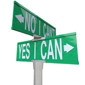 Yes I Can - Two-Way Street Sign — Stock Photo