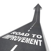 Road to Improvement - Words on Street — Stock Photo